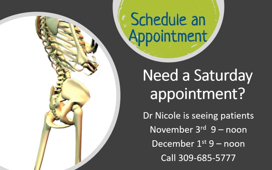 saturday appointment